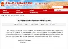 全国示范候选名单公布 禹州李金寨村上榜!
