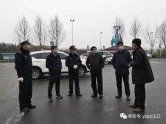 禹州公安交警:疫情在前交警不退 严格把好入市关