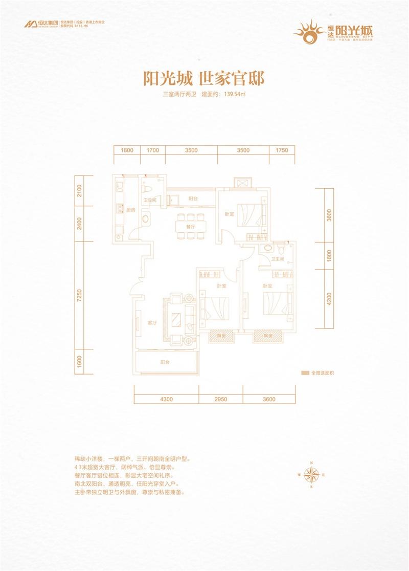禹州恒达阳光城户型图