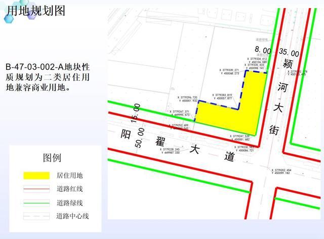 禹州市中南片区B-47-03-002-A地块用地性质调整批前公示