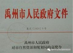 禹州市自然资源和规划局获得多项殊荣并受通令嘉奖