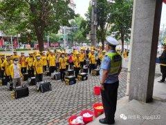 禹州交警深入开展文明交通宣传进美团宣传活动
