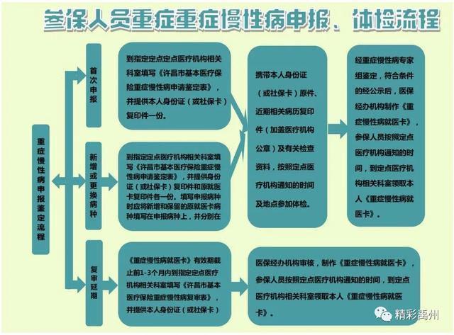 禹州市城镇职工医保第三季度重症慢性病鉴定开始申报啦!