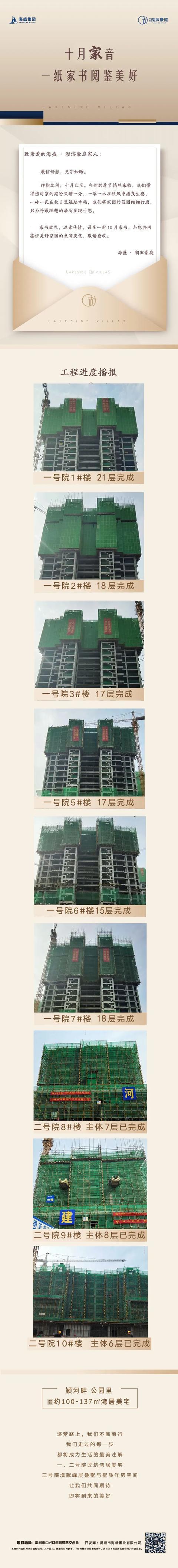 禹州海盛湖滨豪庭工程播报 十月家音,一纸家书阅鉴美好!