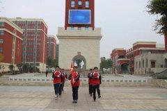 北大公学禹州国际学校高中部举行升国旗仪式