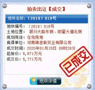 近13亿!2020年禹州拍卖出让住宅用地15宗