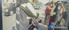 禹州卫校附近一两岁儿童被撞伤后