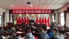 禹州市司法局方岗司法所组织召开新一届民调主任培训会