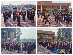 """禹州市第五实验学校在国旗下,听""""红领巾讲解员""""讲党史小故事"""