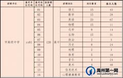 禹州市2021年公开招聘教师6月24日各职位报名人数公示